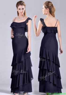 Best Selling Asymmetrical Ankle Length  Mother Dress with Ruffled Layers