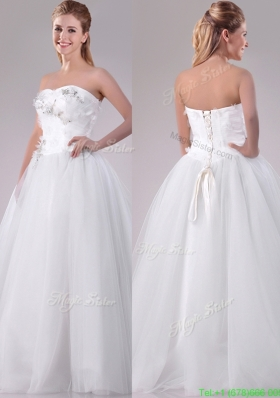 Designer New Really Puffy Sweetheart Beaded Long Wedding Dresses in Tulle