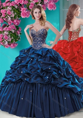 2016 Fashionable Beaded and Ruffled Quinceanera Dress with Brush Train