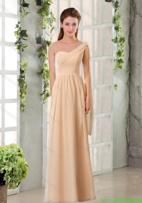 2015 Empire Chiffon Bridesmaid Dresses with Ruching