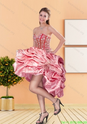 2015 New Style Sweetheart Bridesmaid Dresses with Beading and Pick Ups