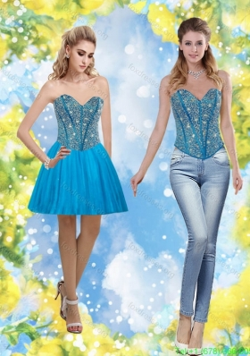 Exclusive 2015 Sweetheart Short Bridesmaid Dresses with Beading