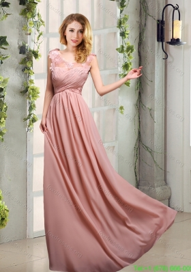 Scoop Empire Ruching 2015 Decent Bridesmaid Dresses