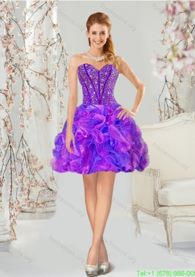 Best Beading and Ruffles Prom Dresses in Multi-color