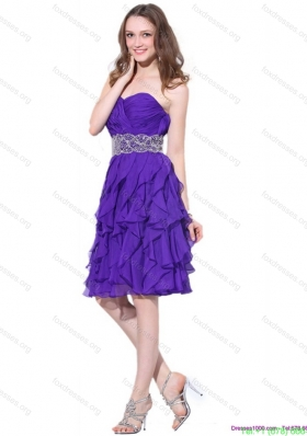 Best Sweetheart Ruffled Prom Dresses with Appliques