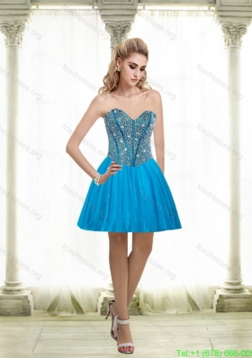 2015 Cheap A Line Sweetheart Prom Dress with Beading