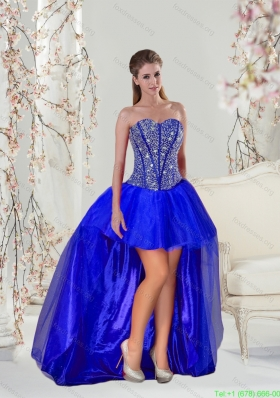 Elegant Royal Blue ridesmaid Dresses with Beading