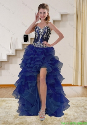 Elegant Navy Blue Sweetheart Bridesmaid Dresses with Beading and Embroidery