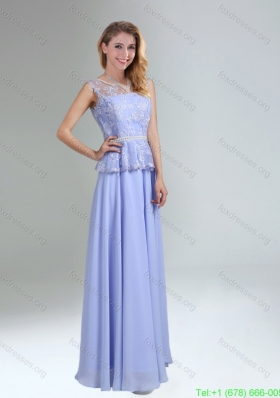 Sexy Belt and Lace Empire 2015 Bridesmaid Dress with Bateau
