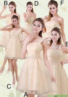 2015 The Brand New Style Mini Length Bridesmaid Dress