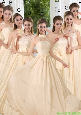 Group Buying Ruching 2015 Floor Length Bridesmaid Dress