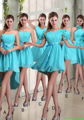 Ruching A Line Chiffon Lace Up Bridesmaid Dress