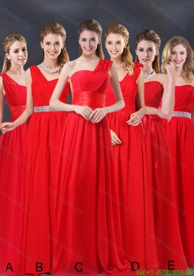 Ruching Empire 2015 Group Buying Bridesmaid Dresses
