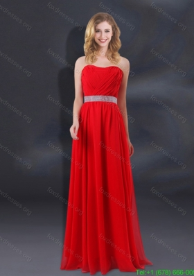 Sequin Decorate Waist Ruching Empire Bridesmaid Dresses