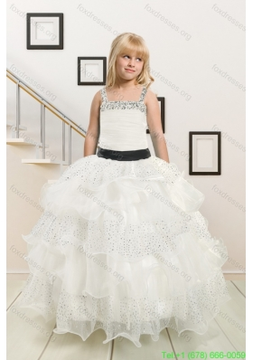 New Arrival Flower Girl Dresses with Beading and Ruffles