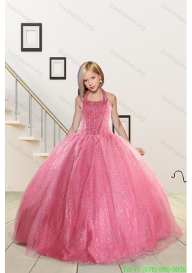 Top Seller Beading and Sequins Baby Pink Little Girl Pageant Dresses
