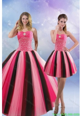 Beautiful 2015 Beading Quinceanera Dresses in Multi Color