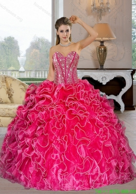Discount Sweetheart Ball Gown Quinceanera Dresses with Beading and Ruffles
