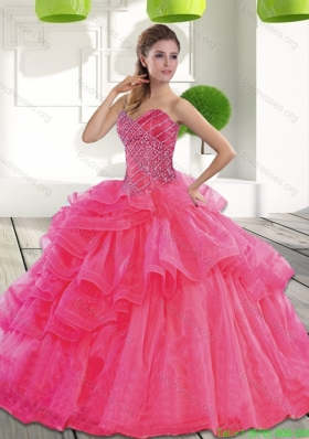 Discount Sweetheart 2015 Spring Quinceanera Dress with Beading