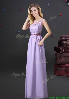 Popular Applique and Laced Prom Dress with See Through Scoop
