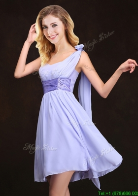 Traditional Handmade Flower Lavender Dama Dress in Mini Length