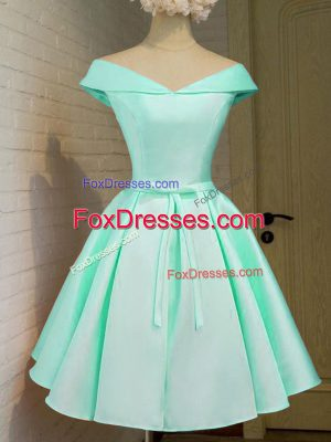 Knee Length A-line Cap Sleeves Turquoise Quinceanera Court Dresses Zipper
