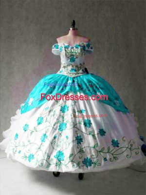 Multi-color Cap Sleeves Organza and Taffeta Lace Up Quinceanera Gowns for Military Ball and Sweet 16 and Quinceanera