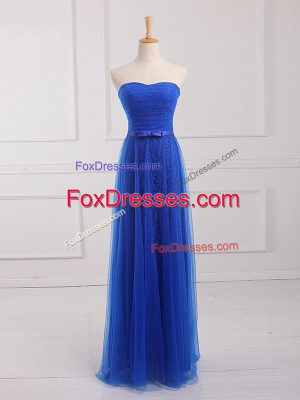Tulle and Lace Sleeveless Floor Length Quinceanera Dama Dress and Belt