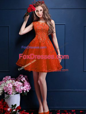 Sumptuous Bateau Sleeveless Tulle Vestidos de Damas Beading and Lace Lace Up