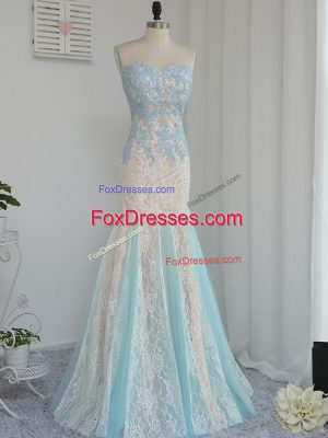 Multi-color Zipper Sweetheart Appliques Prom Dress Tulle Sleeveless