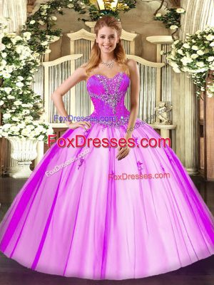 Pretty Sleeveless Beading Lace Up Sweet 16 Quinceanera Dress