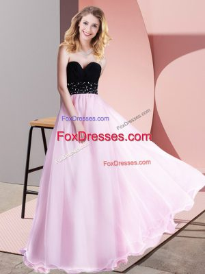 Inexpensive Lilac Tulle Lace Up Sweetheart Sleeveless Floor Length Beading