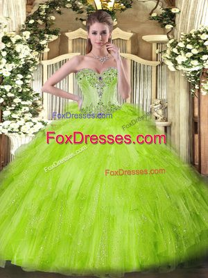 Best Sweetheart Sleeveless Lace Up Sweet 16 Dresses Tulle