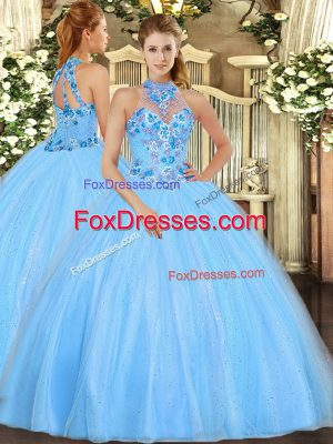 Stylish Sleeveless Embroidery Lace Up Vestidos de Quinceanera