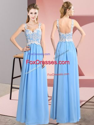Most Popular Sleeveless Lace Zipper Prom Dresses