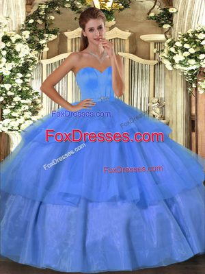 Dazzling Organza Sleeveless Floor Length Quinceanera Dresses and Beading and Ruffled Layers