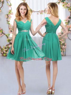 Charming Sleeveless Zipper Mini Length Belt Vestidos de Damas