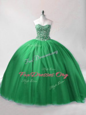 New Arrival Floor Length Dark Green Quince Ball Gowns Sweetheart Sleeveless Lace Up