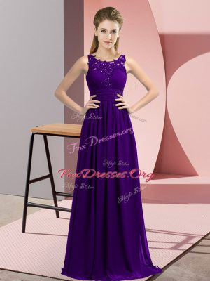 Top Selling Sleeveless Beading and Appliques Zipper Wedding Guest Dresses
