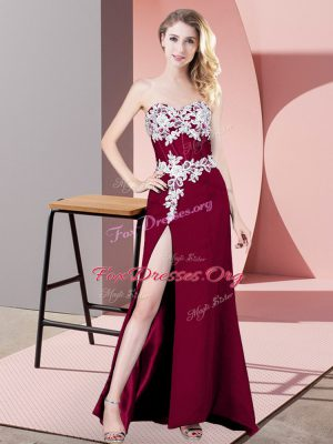 Delicate Floor Length Column/Sheath Sleeveless Fuchsia Prom Dresses Zipper