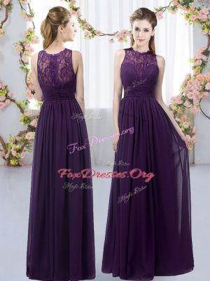 Dark Purple High-neck Neckline Lace Quinceanera Court Dresses Sleeveless Zipper