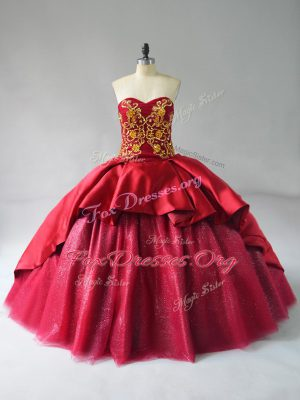 Most Popular Lace Up 15th Birthday Dress Wine Red for Sweet 16 and Quinceanera with Beading and Embroidery Court Train