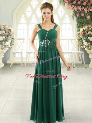 Sleeveless Lace Up Beading and Ruching Dress for Prom