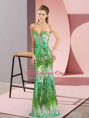 New Style Multi-color Sleeveless Lace Up Prom Gown for Prom and Party