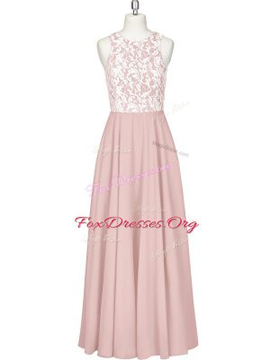 Free and Easy Pink Evening Party Dresses Prom and Party with Lace and Appliques Scoop Sleeveless Zipper