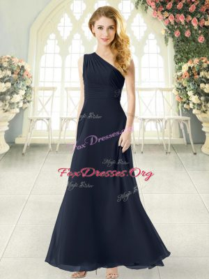 Sleeveless Side Zipper Ankle Length Ruching Dress for Prom