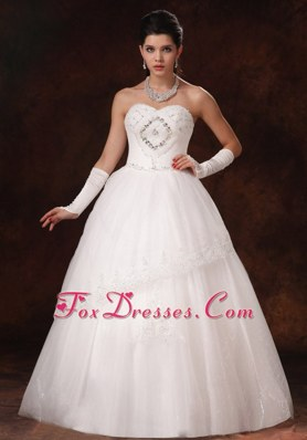 Sweetheart Beaded Wedding Bridal Dress A-line Organza In 2013
