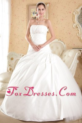 Beading Wedding Bridal Gown Court Train Tulle and Taffeta
