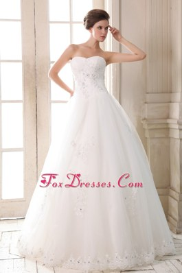 Impressive Long Wedding Gown Sweetheart Beading Appliques