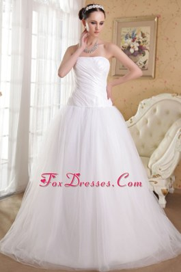 Taffeta and Organza Ruch Wedding Gowns Tulle Outside